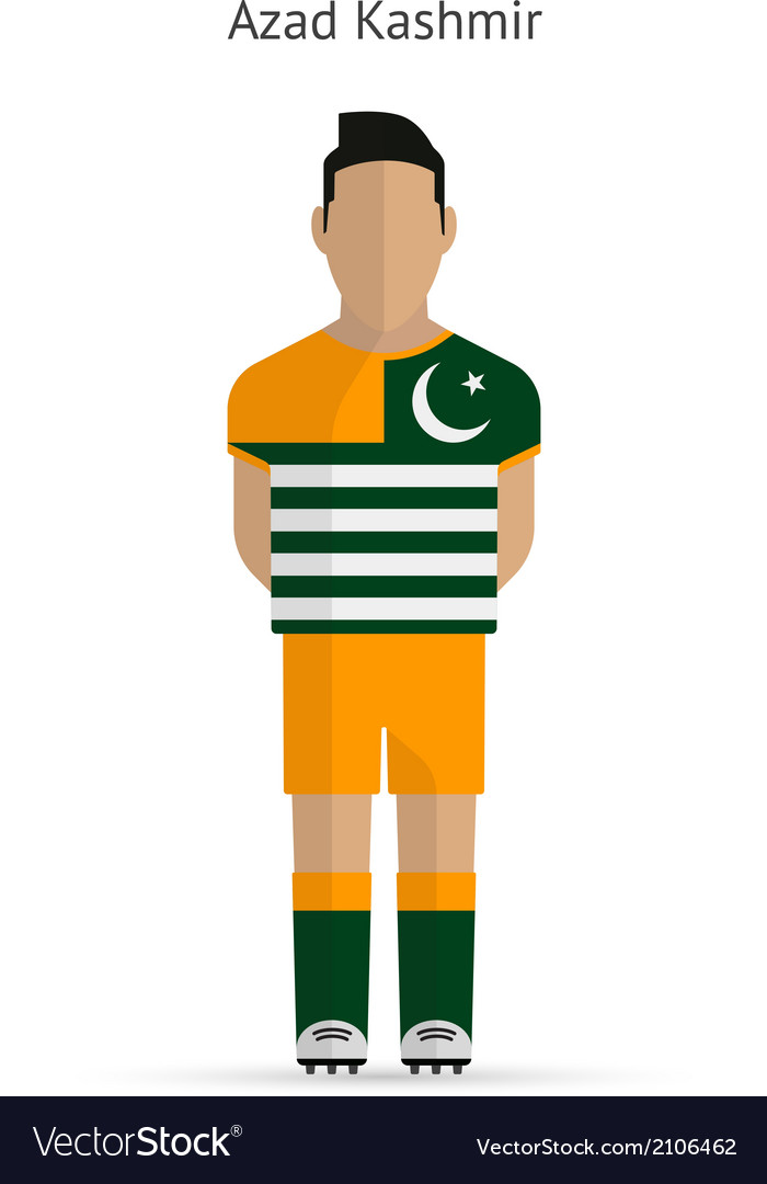 Azad kashmir football player soccer uniform vector | Price: 1 Credit (USD $1)