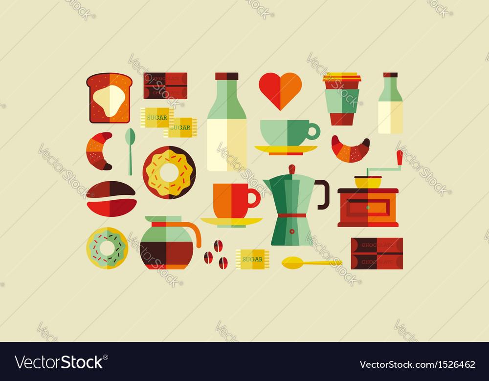 Coffee shop icons vector | Price: 1 Credit (USD $1)