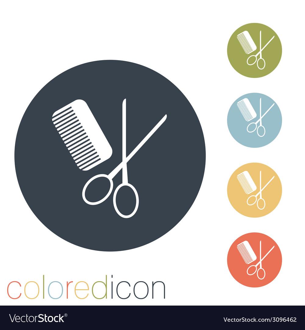 Comb and scissors barbershop vector | Price: 1 Credit (USD $1)
