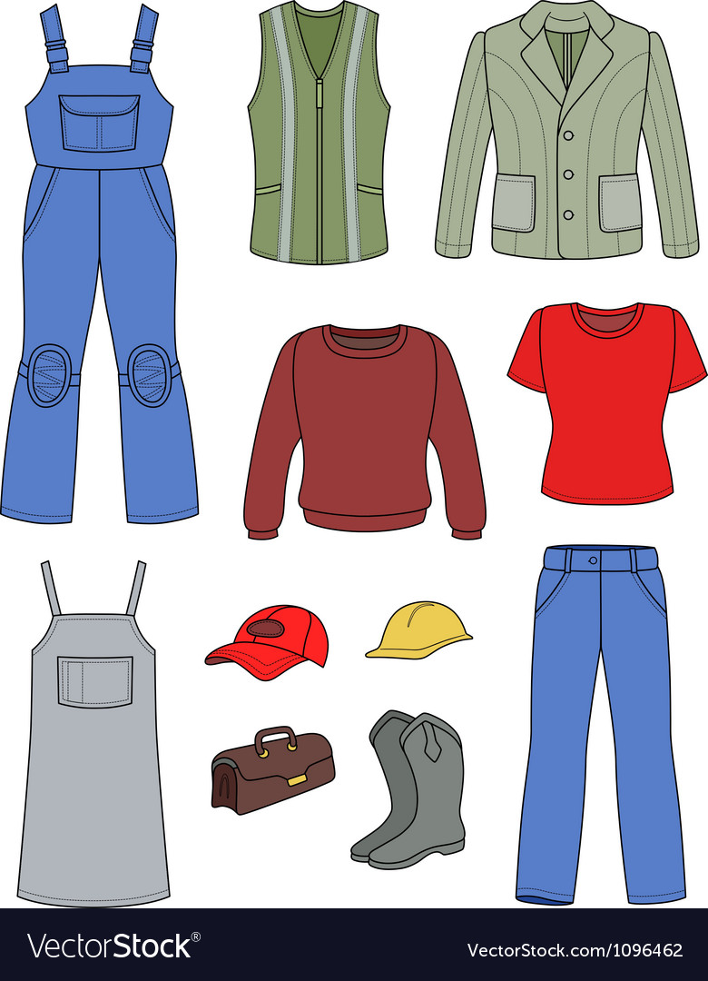 Worker plumber man woman fashion set vector | Price: 1 Credit (USD $1)