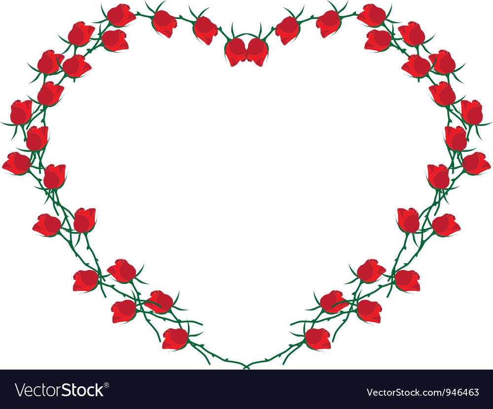 Frame of roses vector | Price: 1 Credit (USD $1)