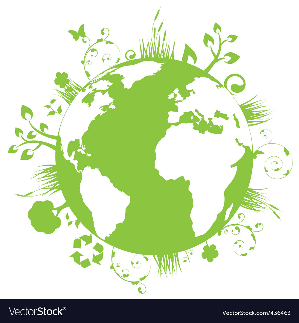 Green globe vector | Price: 1 Credit (USD $1)