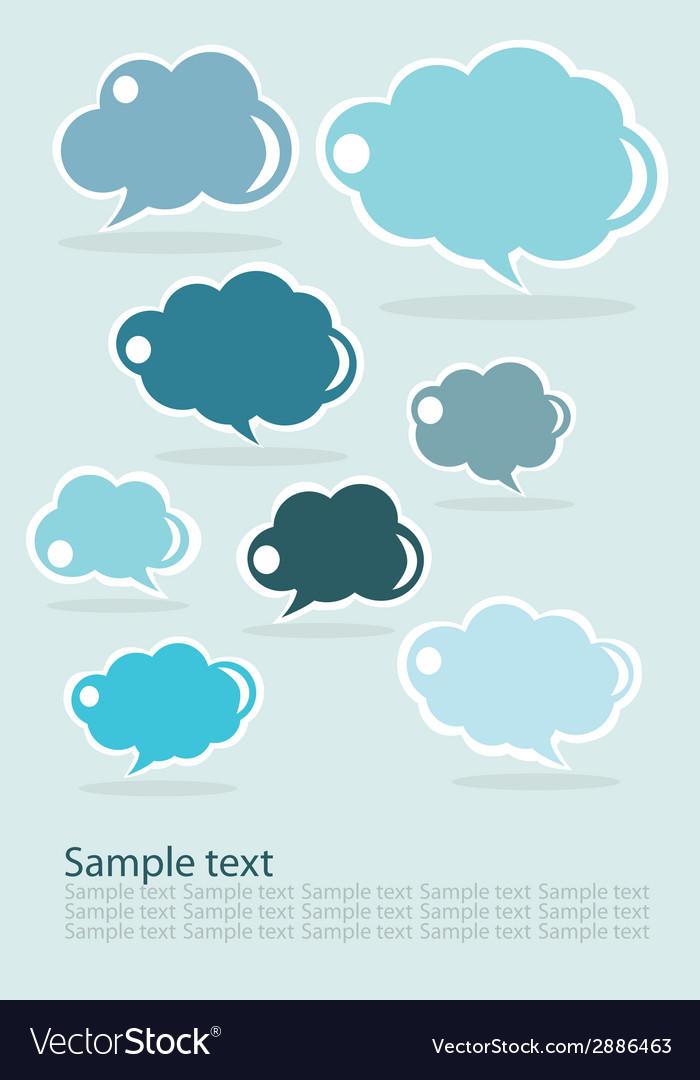 Group of communication speech clouds vector