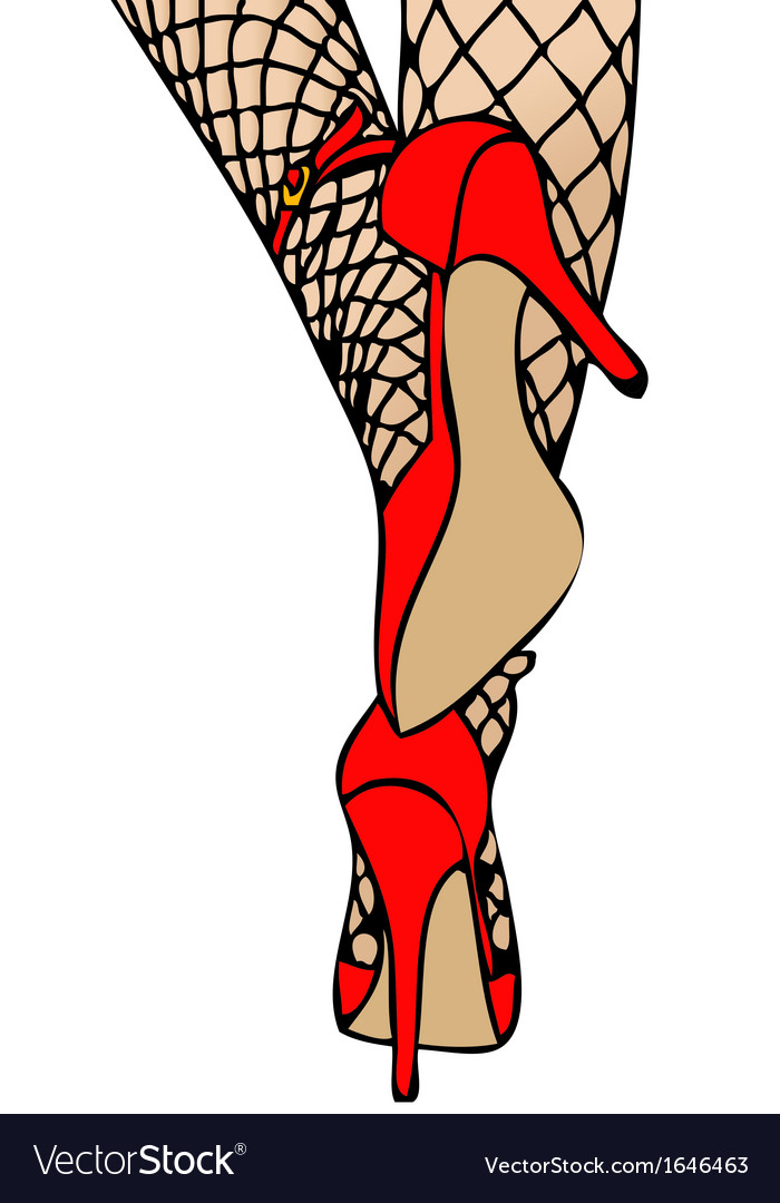 High heels and fishnet vector | Price: 1 Credit (USD $1)