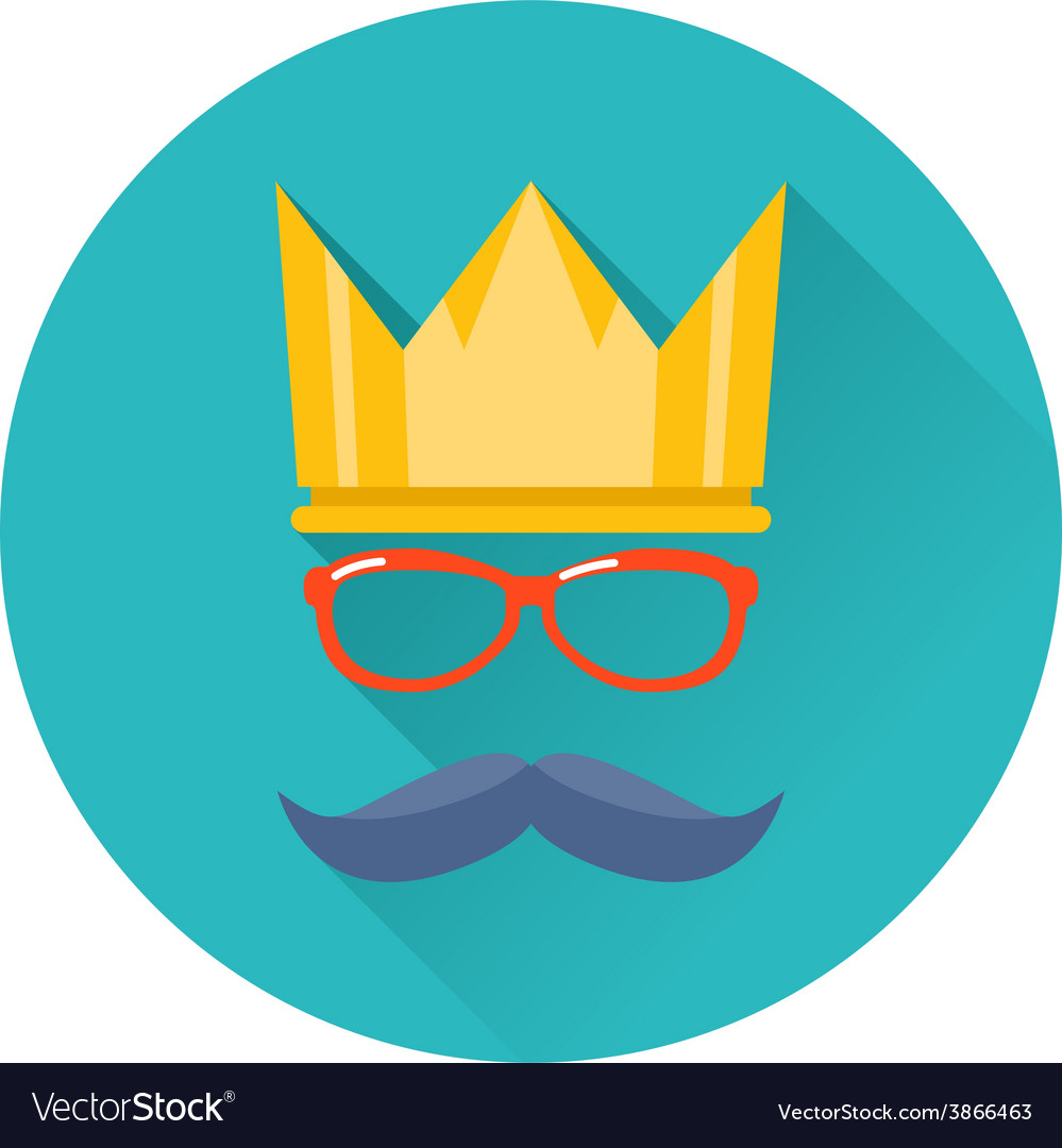 Hipster party crown icon vector | Price: 1 Credit (USD $1)