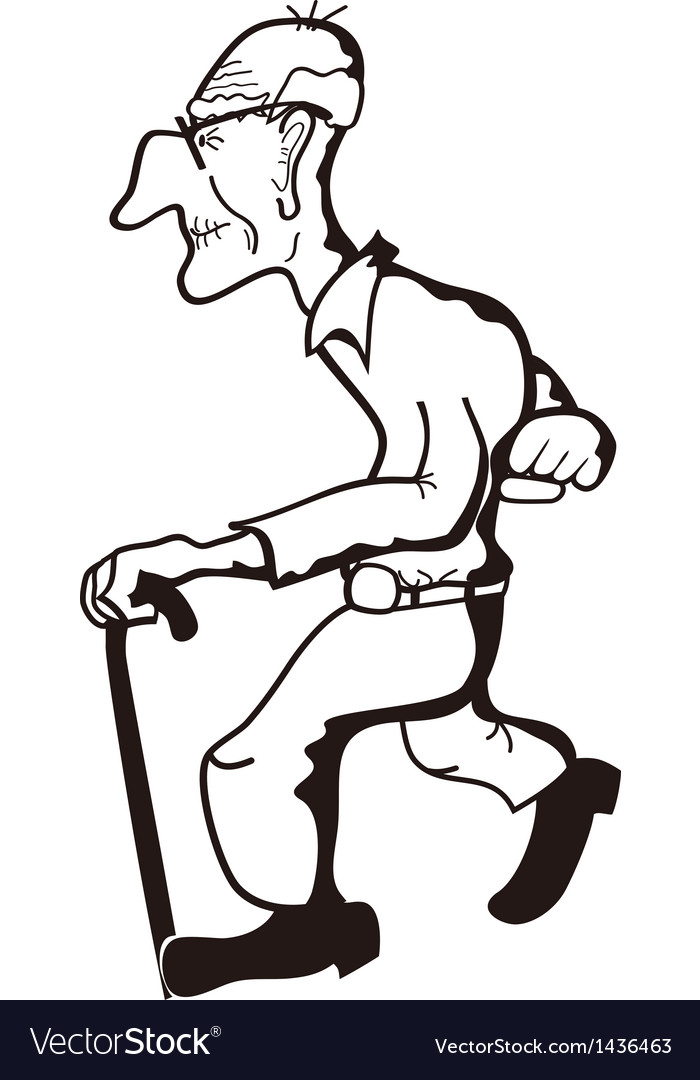 Old man outline vector   Price: 1 Credit (USD $1)