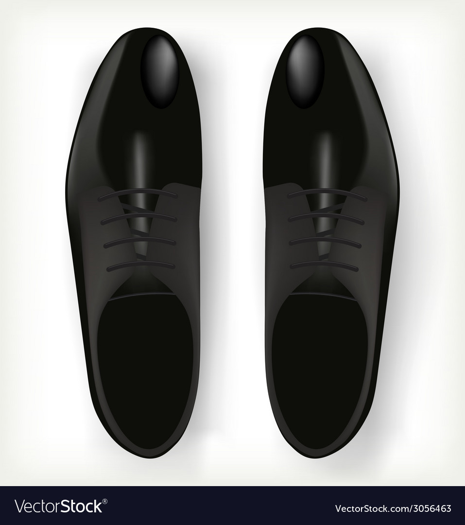 Pair of mens shoes in classic style vector | Price: 1 Credit (USD $1)