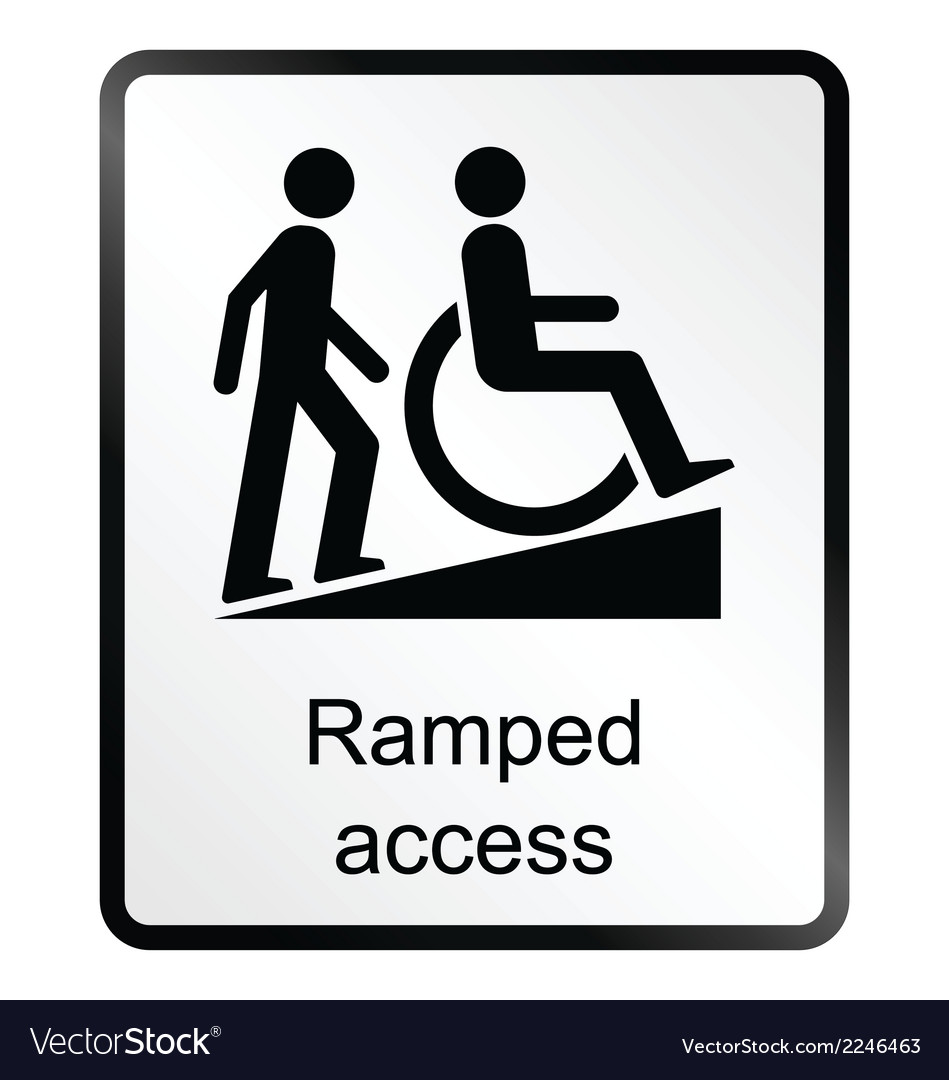 Ramped access information sign vector | Price: 1 Credit (USD $1)