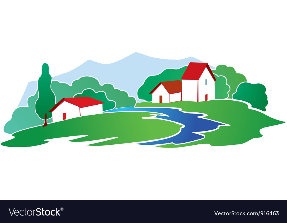 Rural background vector | Price: 1 Credit (USD $1)