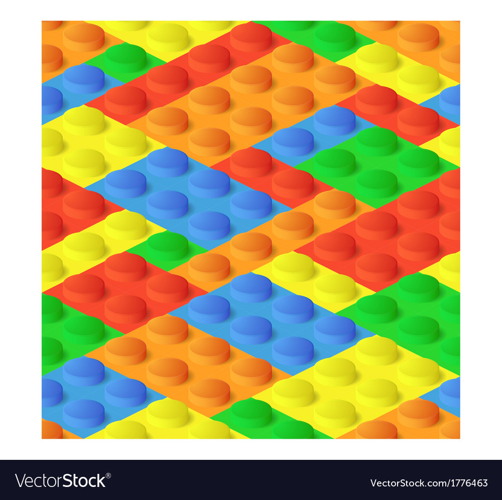 Seamless construction plastic colourful blocks vector | Price: 1 Credit (USD $1)