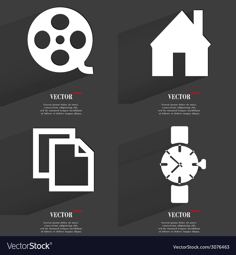 Set of icons collection symbols modern flat web vector | Price: 1 Credit (USD $1)