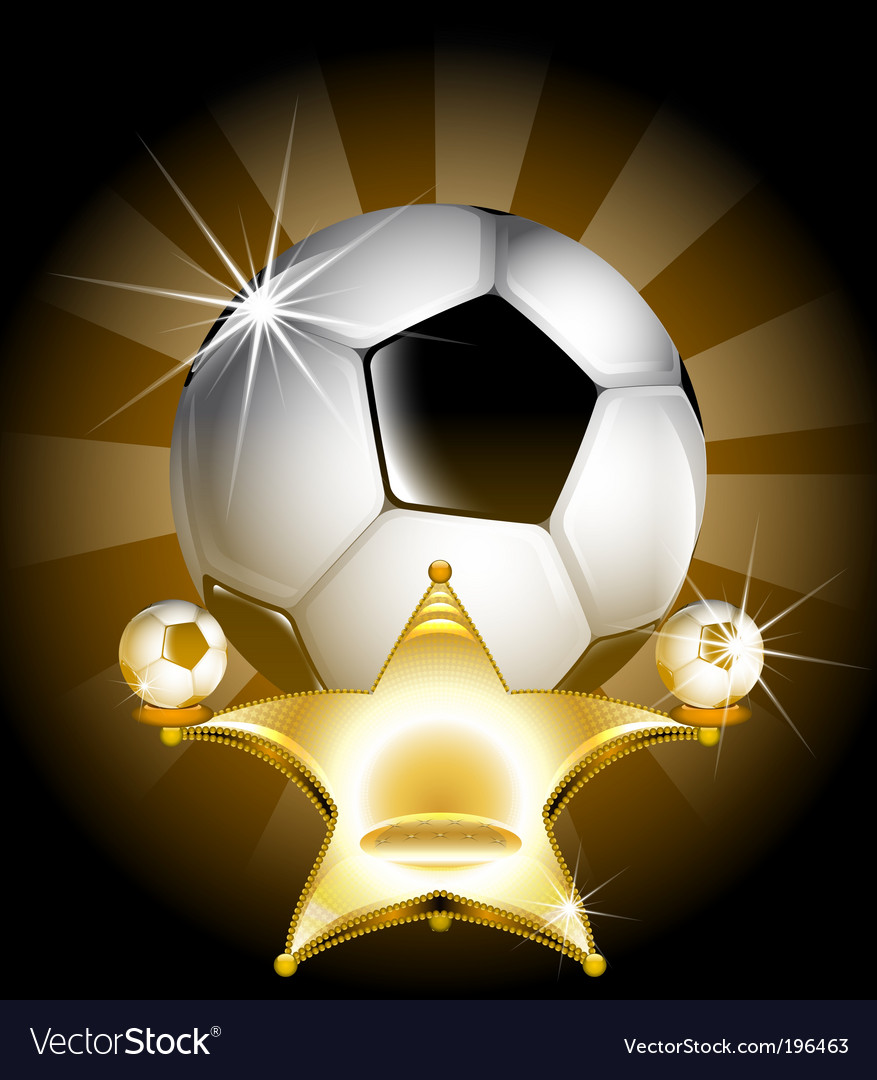 Soccer star vector | Price: 3 Credit (USD $3)