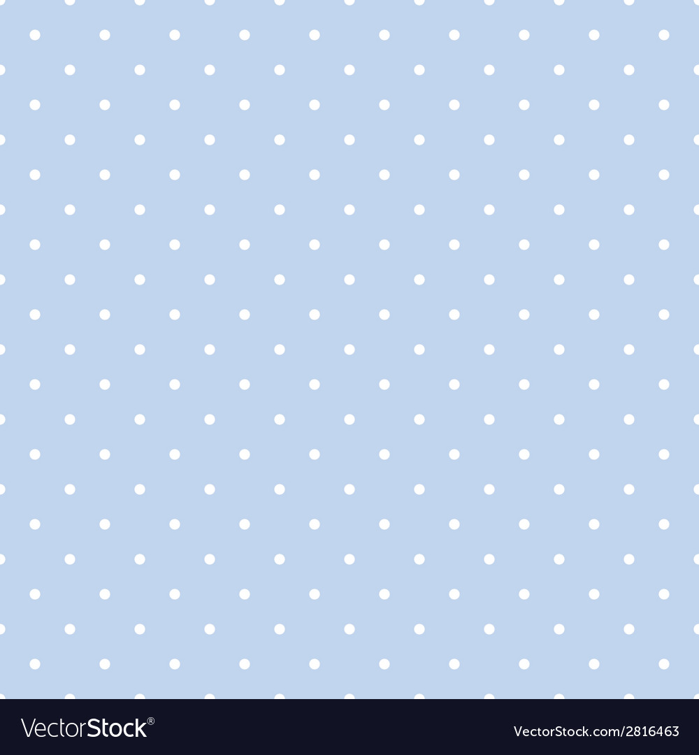 Tile pattern with white polka dots on blue vector | Price: 1 Credit (USD $1)