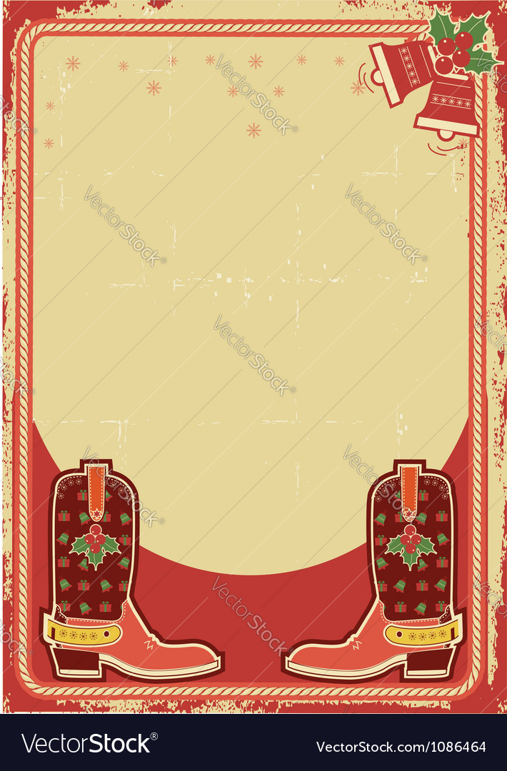 Abstract christmas card background with cowboy vector | Price: 1 Credit (USD $1)