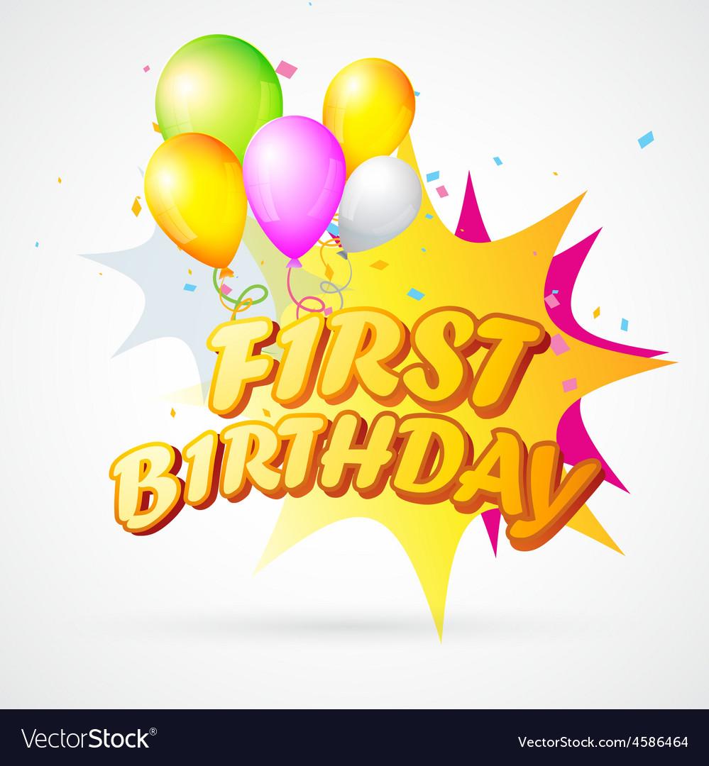 First birthday blast vector | Price: 1 Credit (USD $1)