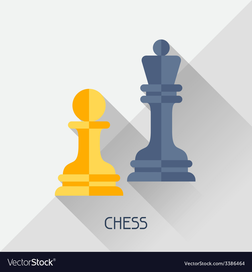 Game with chess in flat design style vector | Price: 1 Credit (USD $1)