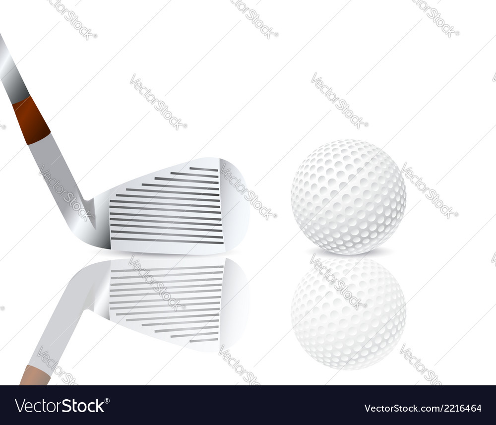 Golf club and a ball vector | Price: 1 Credit (USD $1)