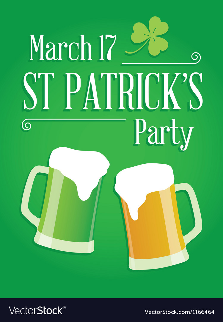 Happy st patricks day party poster invite vector | Price: 1 Credit (USD $1)
