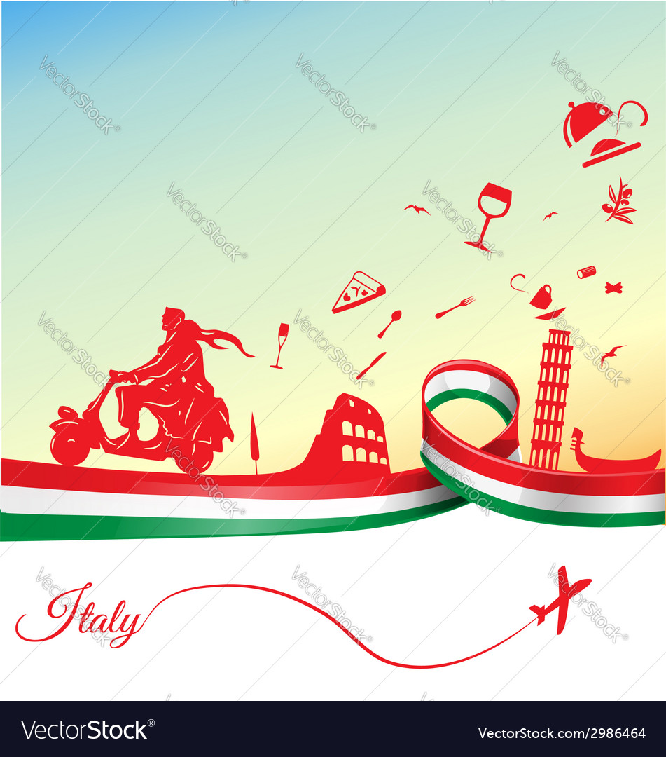 Italian holidays background vector | Price: 1 Credit (USD $1)