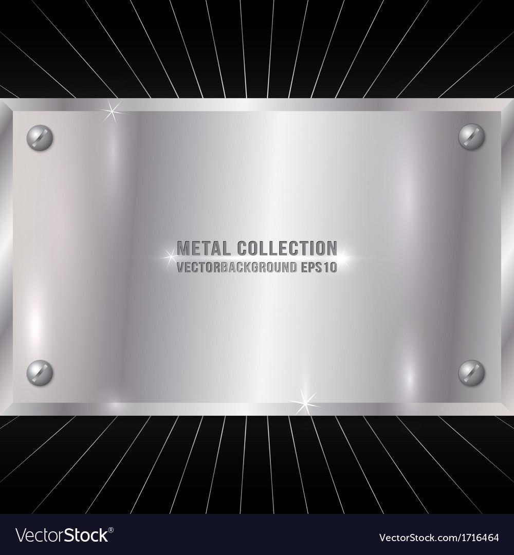 Metallic silver plate vector | Price: 1 Credit (USD $1)