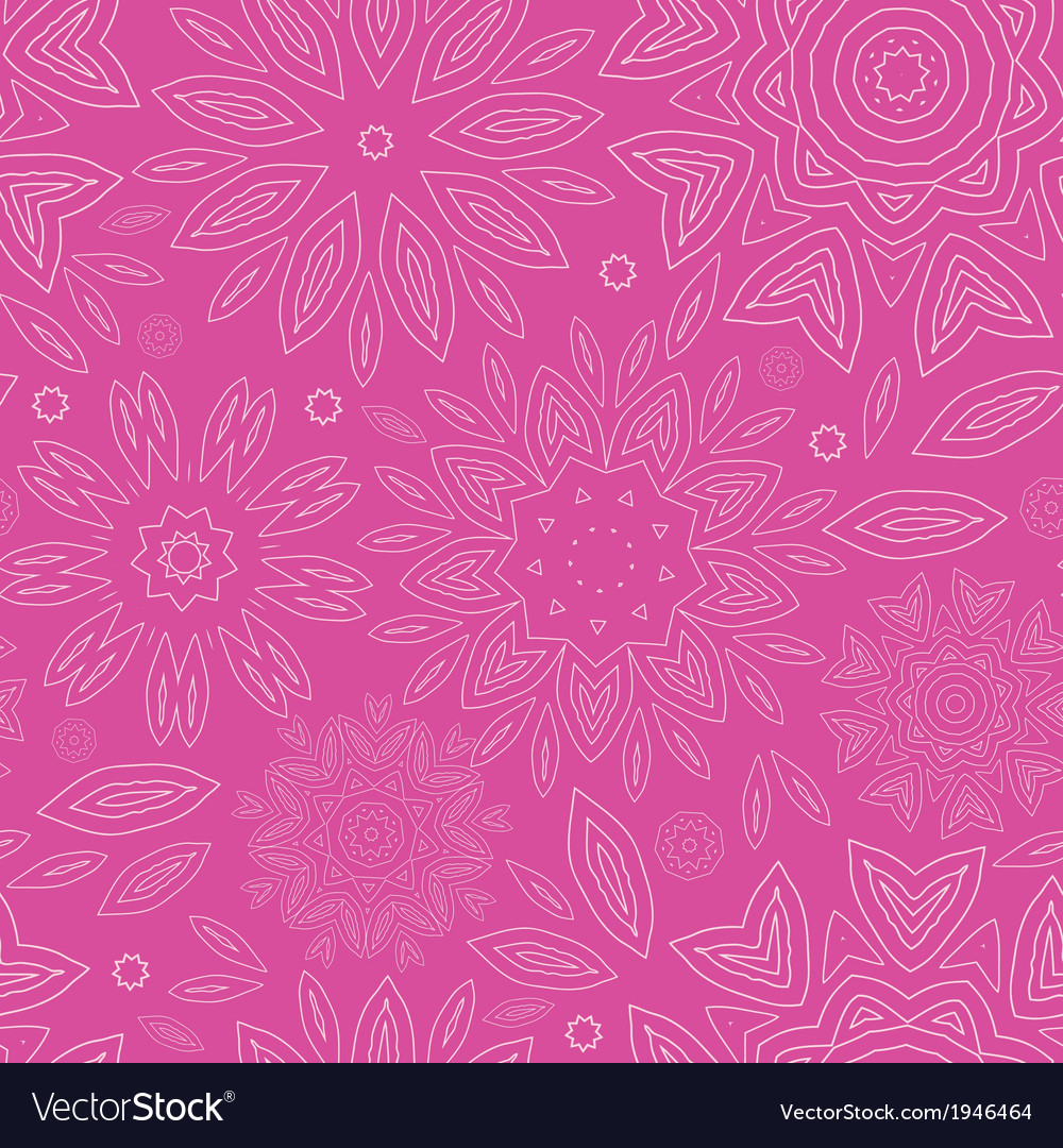 Pink abstract flowers texture seamless pattern vector | Price: 1 Credit (USD $1)