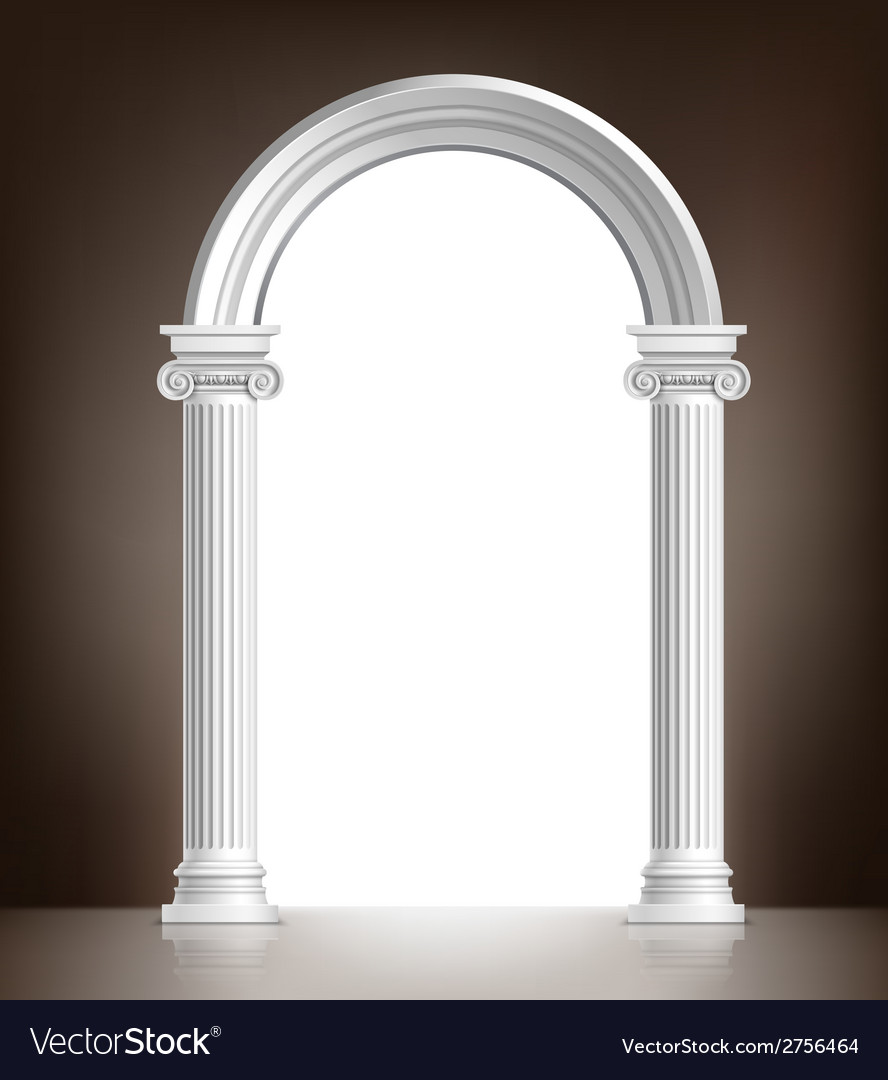 Realistic white arch vector | Price: 1 Credit (USD $1)
