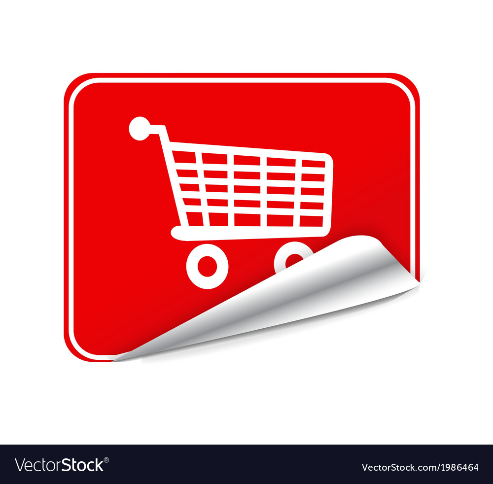 Red sticker trolley vector | Price: 1 Credit (USD $1)