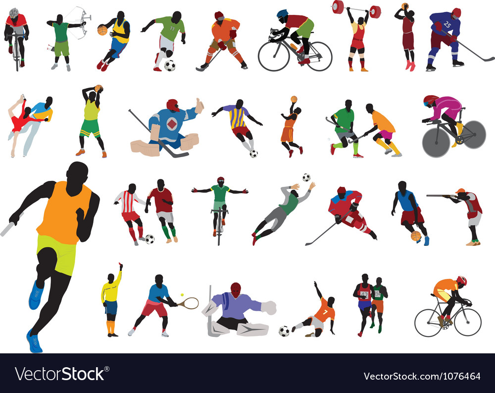 Silhouettes athlete vector | Price: 1 Credit (USD $1)