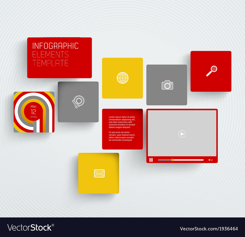 Template with icons on tiled background vector | Price: 1 Credit (USD $1)