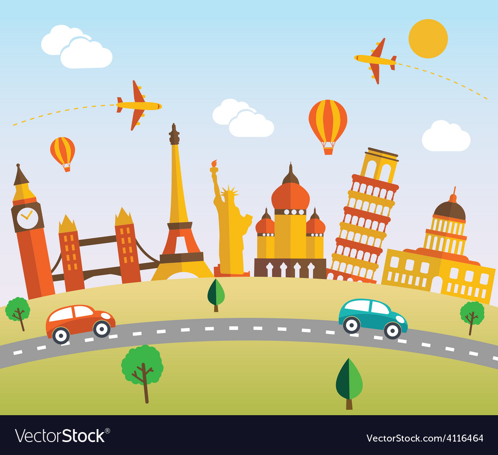 Travel vector | Price: 1 Credit (USD $1)
