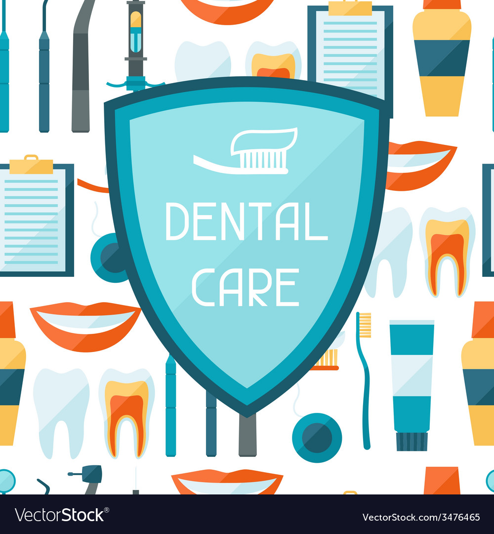 Medical background design with dental equipment vector | Price: 1 Credit (USD $1)