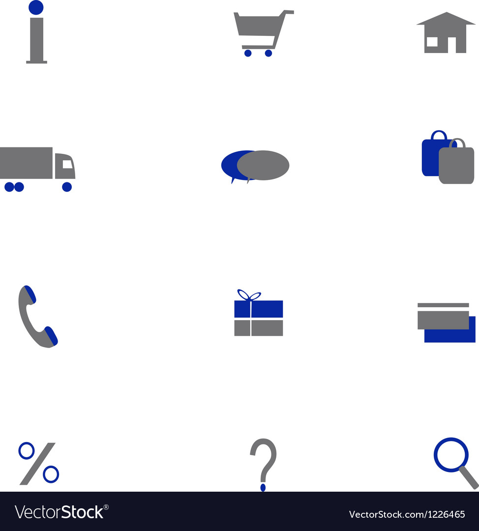 Online shoping icons two colors vector | Price: 1 Credit (USD $1)