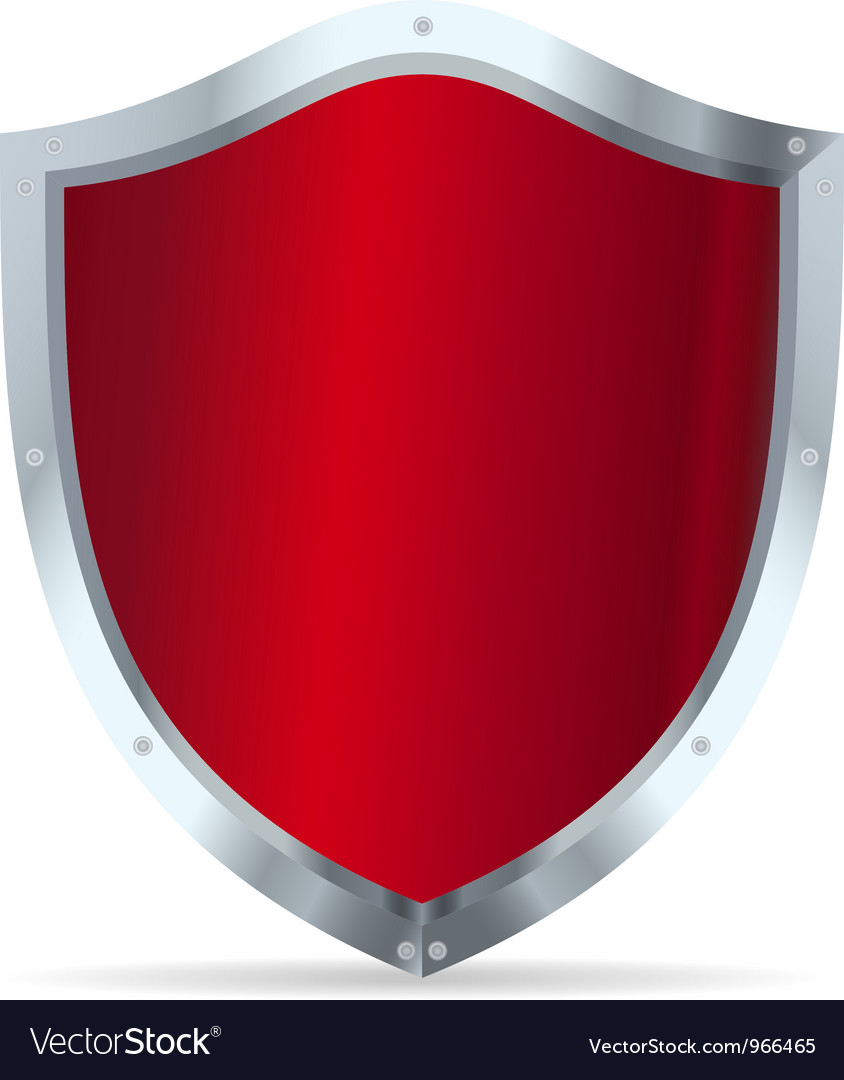 Red glossy steel shields vector | Price: 1 Credit (USD $1)