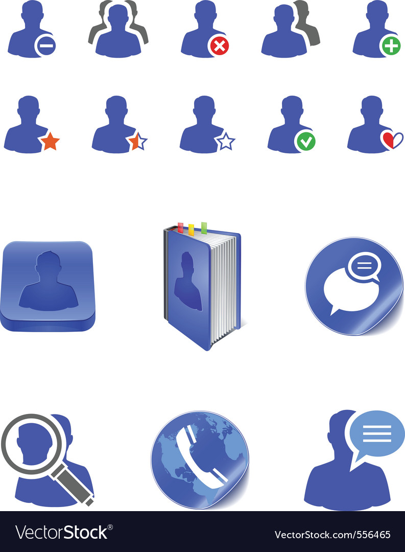 Social member icons vector | Price: 1 Credit (USD $1)