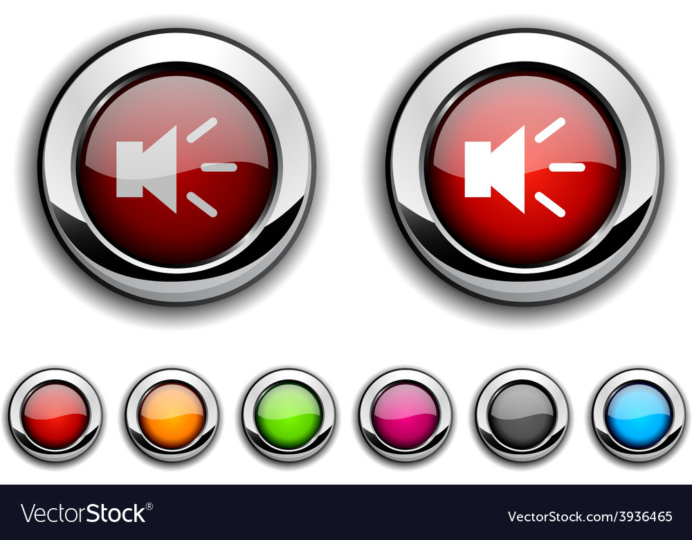Sound button vector | Price: 1 Credit (USD $1)