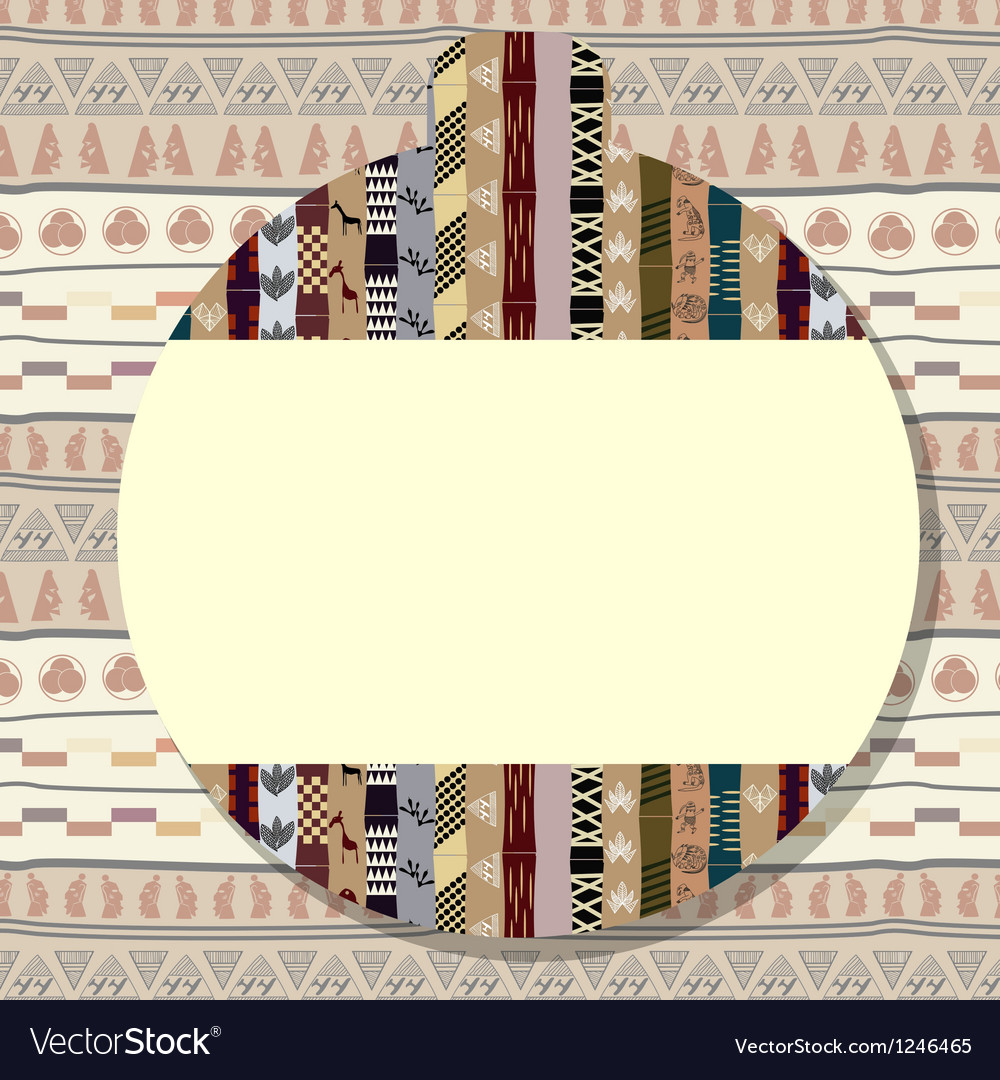 Sticker with a picture of african elements vector | Price: 1 Credit (USD $1)