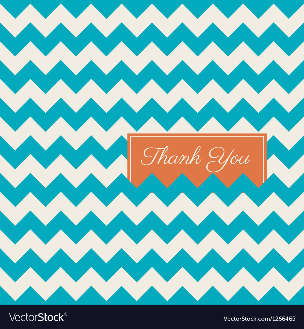 Thank you card chevron background vector | Price: 1 Credit (USD $1)