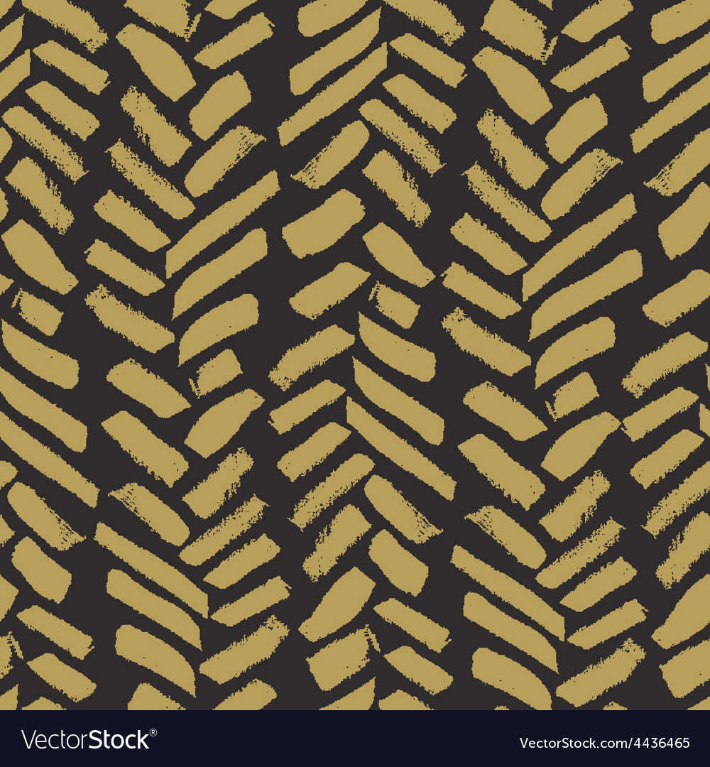 Trendy seamless pattern with ink brush strokes vector | Price: 1 Credit (USD $1)