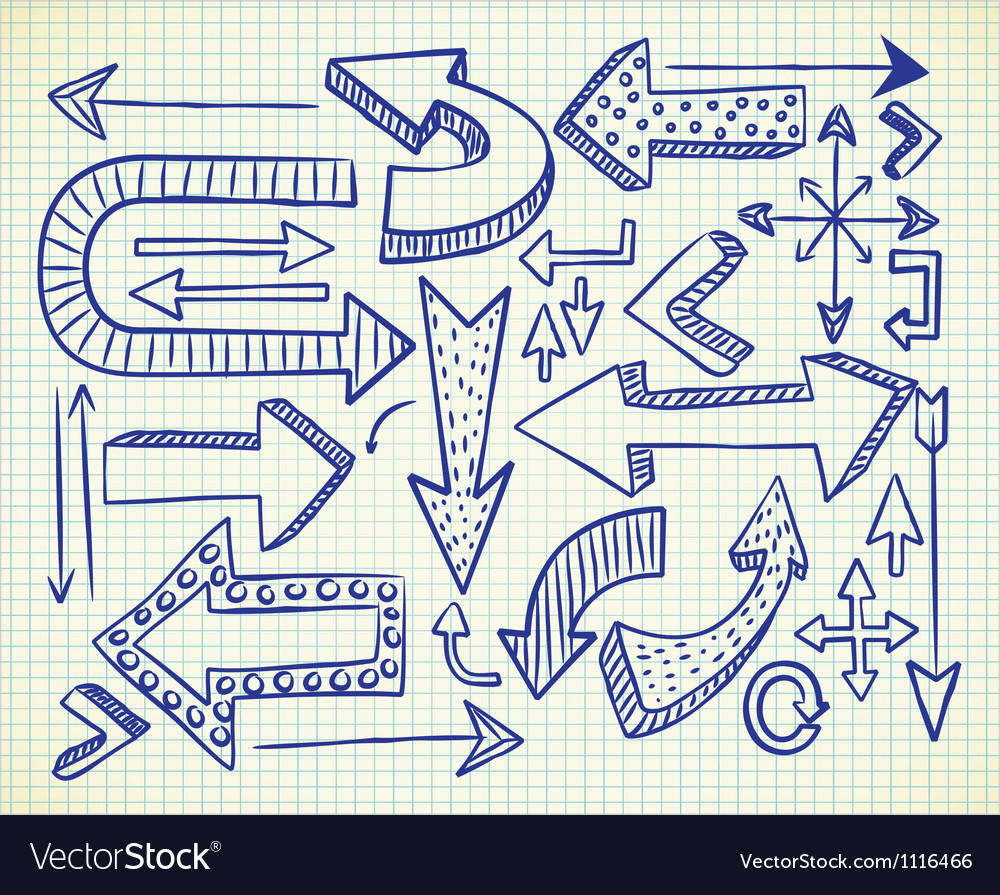 Big set of arrow doodle vector | Price: 1 Credit (USD $1)