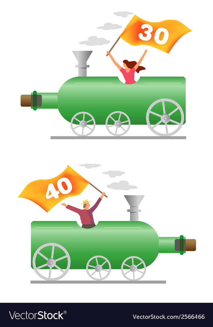 Birthday party locomotive vector | Price: 1 Credit (USD $1)