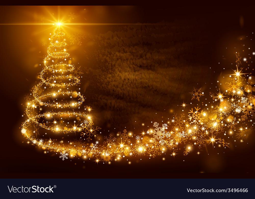 Christmas magic tree vector | Price: 1 Credit (USD $1)
