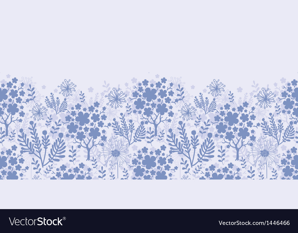 Evening garden horizontal seamless pattern vector | Price: 1 Credit (USD $1)