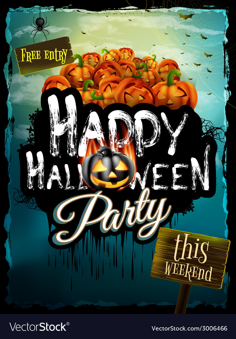 Halloween night background eps 10 vector | Price: 3 Credit (USD $3)