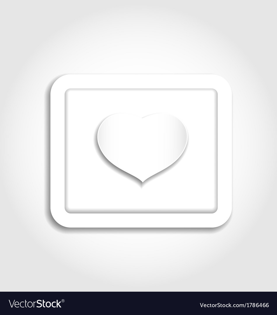 Heart from paper for valentines day vector | Price: 1 Credit (USD $1)