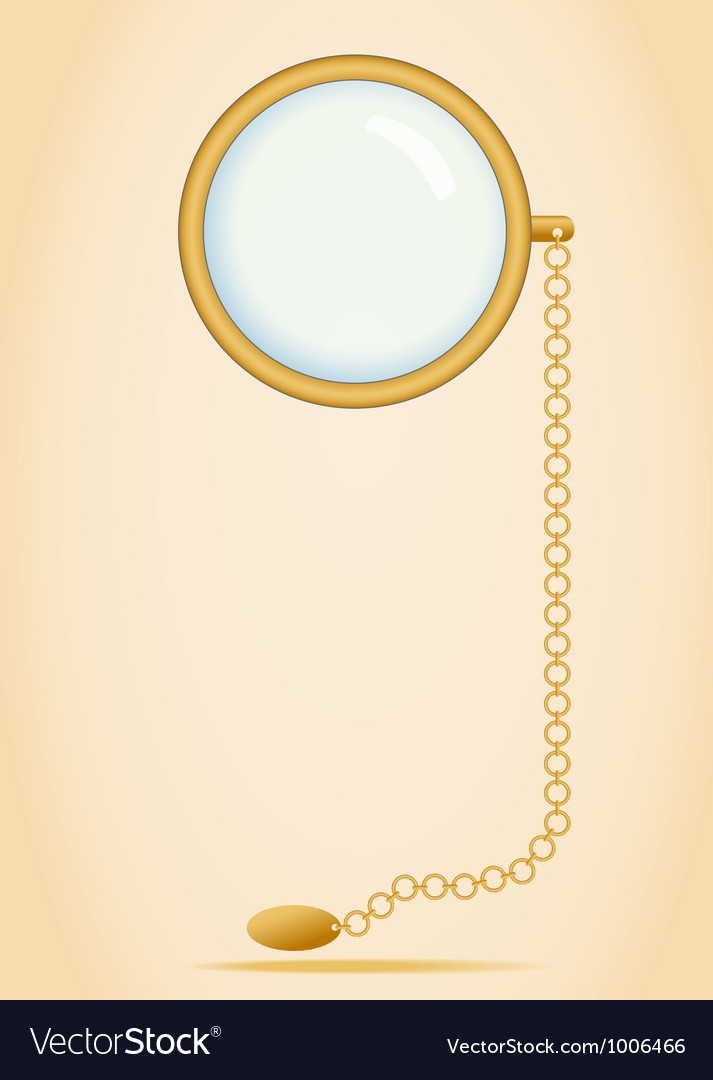 Monocle isolated vector   Price: 1 Credit (USD $1)