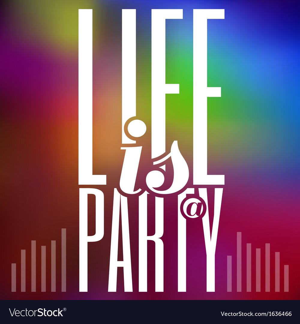 Party typography colorful abstract background vector | Price: 1 Credit (USD $1)