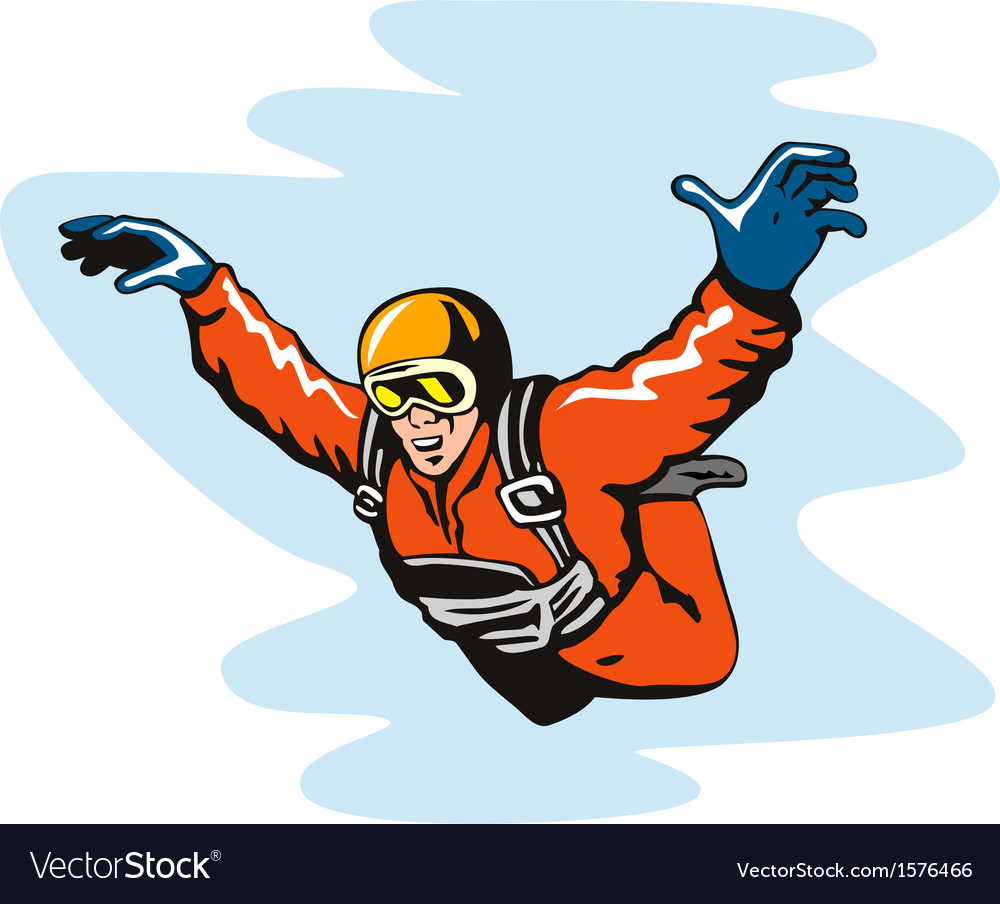 Skydiving solo vector | Price: 1 Credit (USD $1)