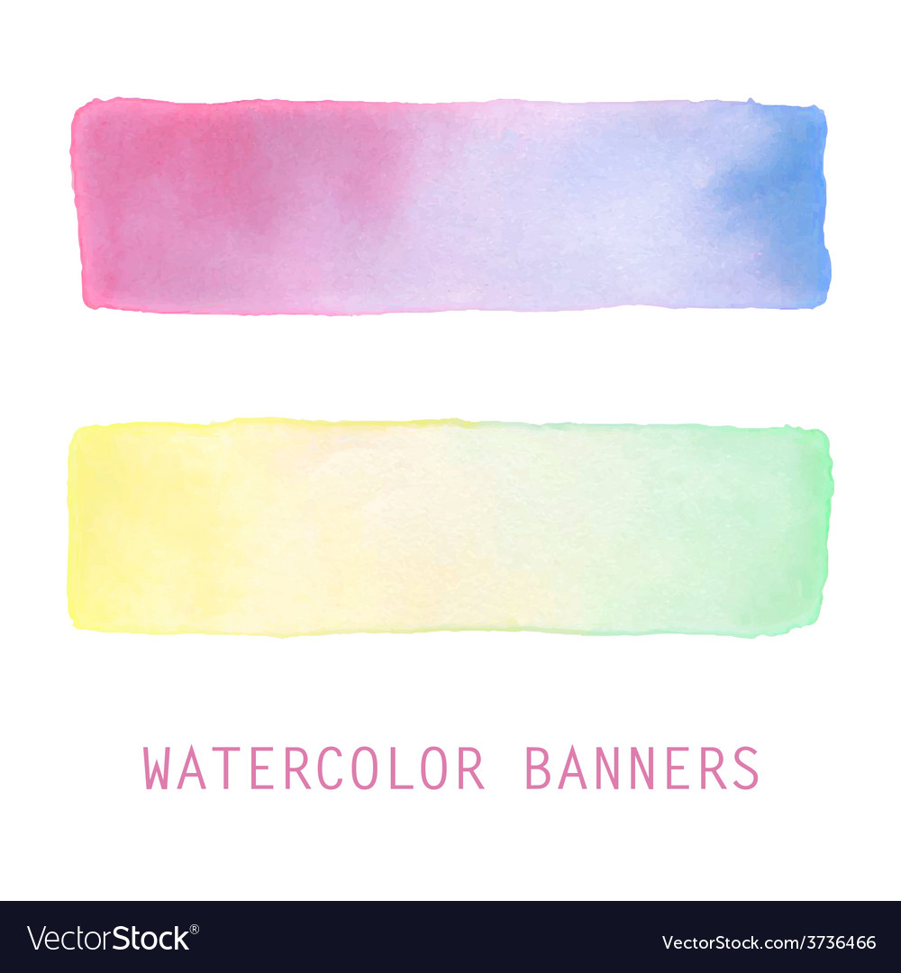 Watercolor banners set vector | Price: 1 Credit (USD $1)