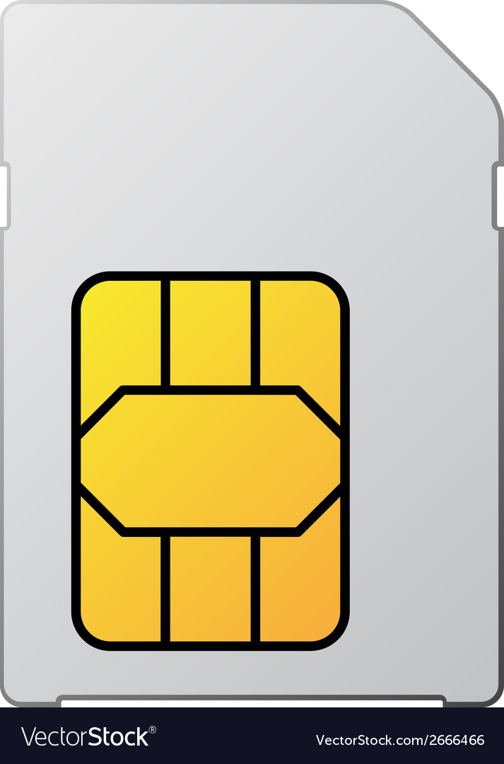 White blank sim card vector | Price: 1 Credit (USD $1)
