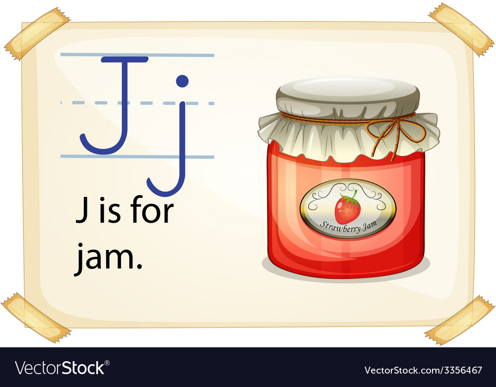 A letter j for jam vector | Price: 3 Credit (USD $3)